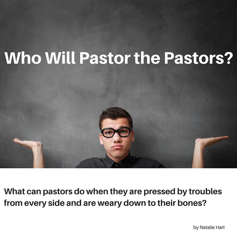 a graphic of a shrugging young man, with the words Who Will Pastor the Pastors?